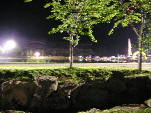 夜のランナー