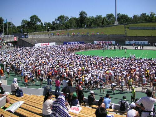 スタート前の真駒内競技場